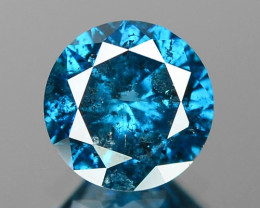0.54 Cts Sparkling Rare Fancy Intense Blue Color Loose Diamond