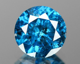 0.69 Cts Sparkling Very Rare Intense Blue Color Loose Diamond