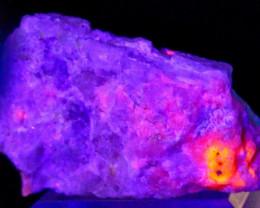 296 CT Natural -UV Light Color Change  Purple Hackmanite Specimen