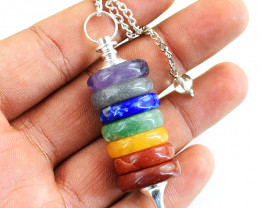 Genuine 29.00 Gms Seven Chakra Healing Point Pendulum