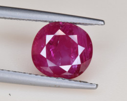 Natural Ruby 3.10 Cts Faceted Gemstone from Burma