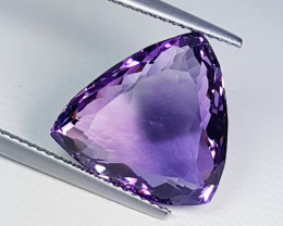 """10.68ct """"Top Quality Gem"""" Amazing Triangle Cut Natural Amethyst"""