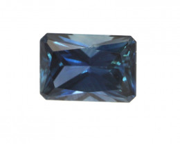 0.68cts Natural Australian Blue Sapphire Emerald Cut