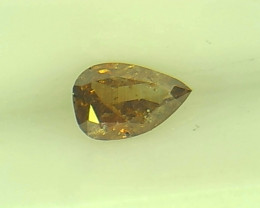 0.14ct Fancy deep orangy Brown  Diamond , 100% Natural Untreated