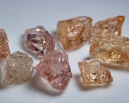 30.50 CT Natural - Unheated Peach Pink Morganite Rough Lot
