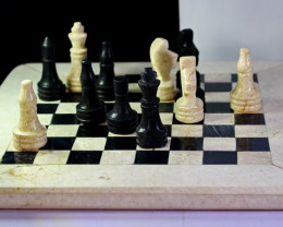 7480 CT Natural Onyx Carved Chess Board Special Shape