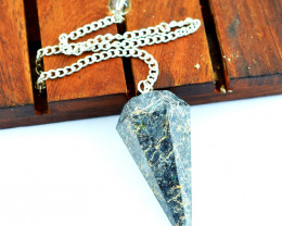 Genuine 105.00 Cts Jasper Healing Point Pendulum