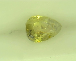 0.30ct  Fancy Green Yellow Diamond , 100% Natural Untreated