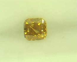 0.19ct Fancy Vivid Yellow Brown   Diamond , 100% Natural Untreated