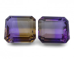 60.06 ct Pair Emerald Cut Ametrine