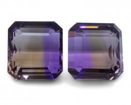 49.73 ct Pair Emerald Cut Ametrine