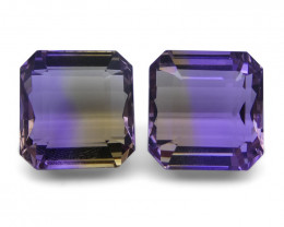 25.58 ct Pair Emerald Cut Ametrine