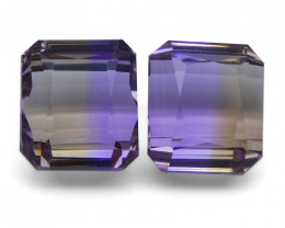 22.86 ct Pair Emerald Cut Ametrine