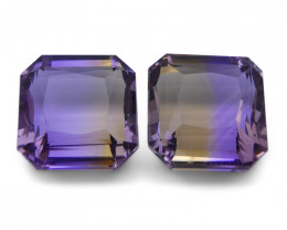 21 ct Pair Square Ametrine