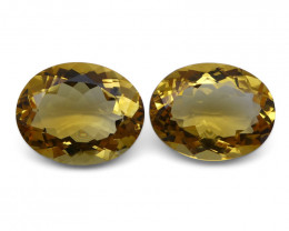 12.47 ct Pair Oval Citrine