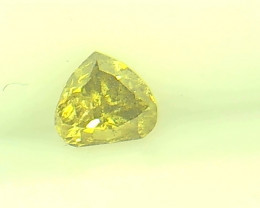 0.25ct Fancy Intense grayish Yellow Green  Diamond , 100% Natural Untreated