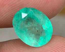 3.22 cts Colombian Emerald Gemstone - Muzo Origin - Glowing Mint