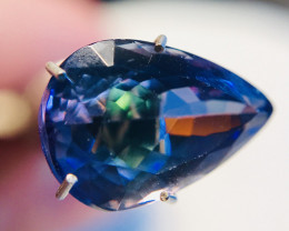 3.5Ct VVS Tanzanite - Certified Untreated Pear Faceted TNZ001