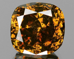 2.34 Cts Untreated Natural Fancy Intense Orangy Brown Loose Diamond
