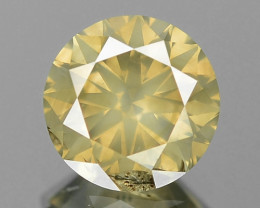 0.79 Cts Untreated Natural Fancy Brownish Yellow Color Loose Diamond