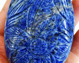 Genuine 1065.00 Cts Sodalite Oval Shape Carved Cabochon