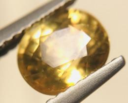 1.9CT Yellow Zircon Untreated Certified
