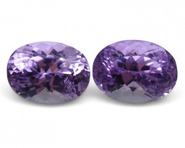 19.74 ct Pair Oval Kunzite