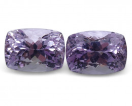 18.28 ct Pair Cushion Kunzite