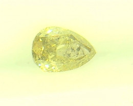 0.25ct Fancy Yellow Green  Diamond , 100% Natural Untreated