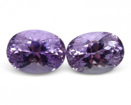 17.04 ct Pair Oval Kunzite