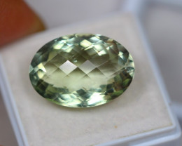 15.04ct Green Amethyst Oval Cheesker Board Cut Lot V3039
