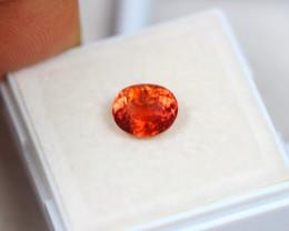 1.69ct Light Orange Color Tourmaline Oval Cut Lot D210