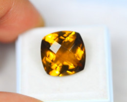 9.46Ct Honey Quartz Cushion CheeskerBoard Cut Lot LZB416