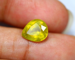 4.16Ct Yellow Sapphire Composite Pear Cut Lot LZB421