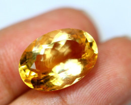 10.70Ct Yellow Citrine Oval Cut Lot LZB423