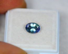 1.26Ct Greenish Blue Tanzanite Oval Cut Lot LZB424