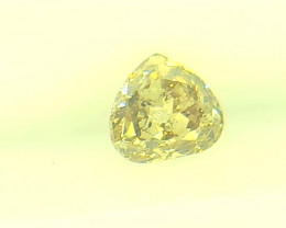 0.23ct Fancy Light Yellow Green Diamond , 100% Natural Untreated