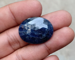 BLUE SAPPHIRE ROSE CUT GEMSTONE Natural+Untreated VA2194