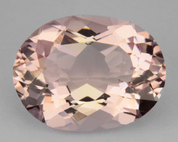4.04 Cts Natural Peach Pink Morganite Oval Brazil