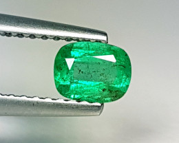 "0.43 ct ""AAA Grade Gem"" Cushion Cut  Natural Emerald"