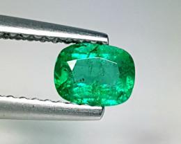 "0.46 ct ""Excellent Gem"" Cushion Cut  Natural Emerald"