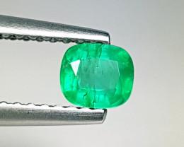 "0.35 ct ""Excellent Gem"" Cushion Cut  Natural Emerald"