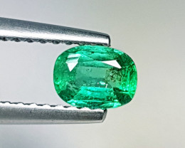 "0.39 ct ""Top Green Gem"" Cushion Cut  Natural Emerald"