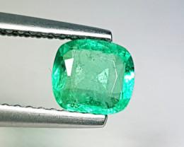 "0.63 ct ""AAA Quality Gem"" Cushion Cut  Natural Emerald"