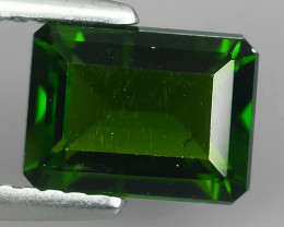 1.75 CTS NATURAL ULTRA RARE CHROME TOP GREEN DIOPSIDE RUSSIA~