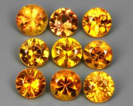 2.20  Cts Natural Intense Beautiful Yellow Sapphire Round Shape Madagascar