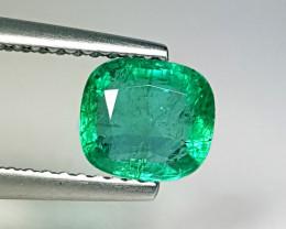 "1.06 ct ""Top Grade Gem"" Cushion Cut Natural Emerald"