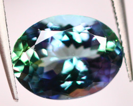 IGI Certified 2.92Ct Greenish Violet Blue Tanzanite Oval Cut Lot LZB405