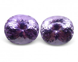 29.31 ct Pair Oval Kunzite