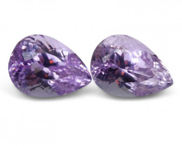 23.42 ct Pair Pear Kunzite